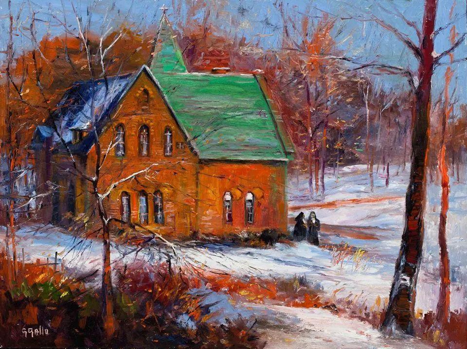风景油画丨美国艺术家乔治·加洛的风景油画作品插图21