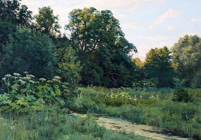 """岁月静好,俄罗斯"""" 小希施金 """" 的自然风景油画,美极了!插图55"""