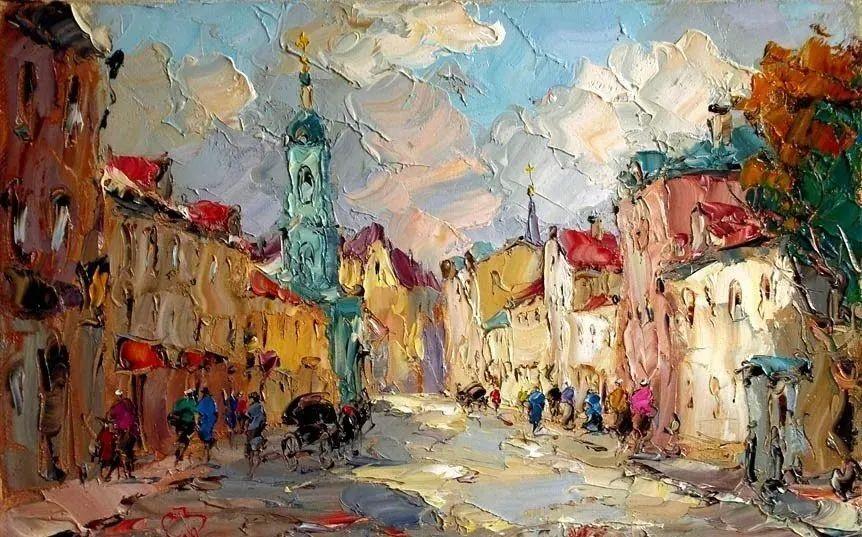 俄罗斯画家 弗拉基米尔·苏科瓦蒂 刮刀油画作品欣赏插图29