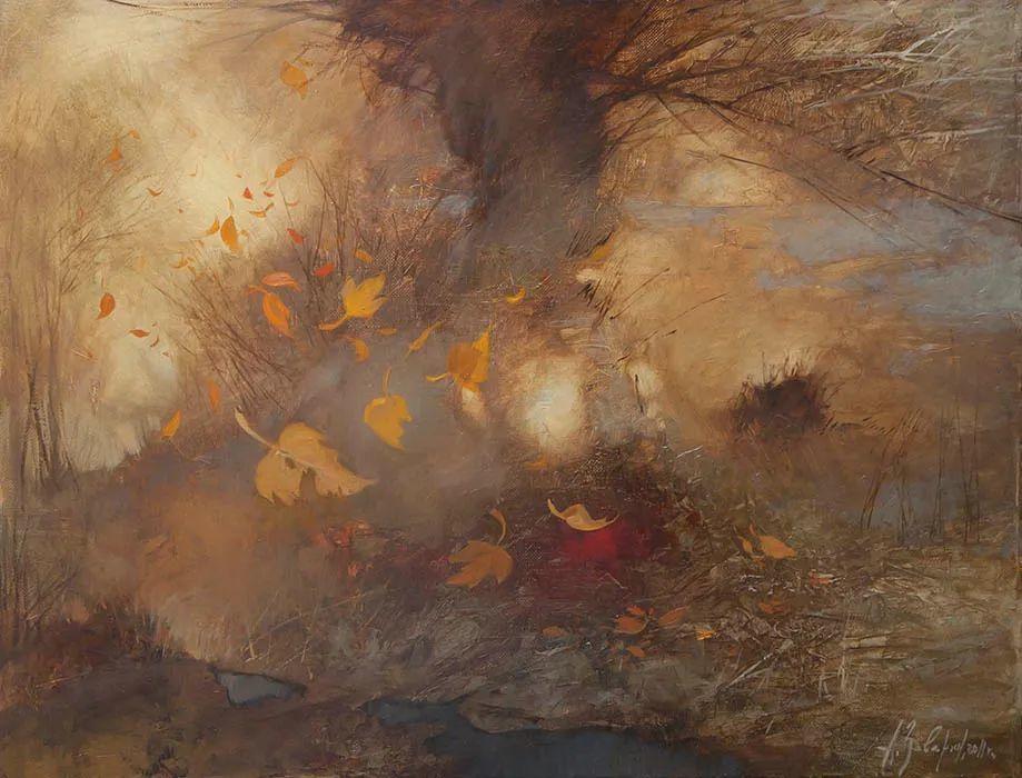 笔触率性,优雅朦胧的风景油画,迷人!插图87