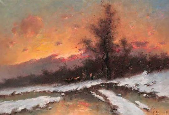 匈牙利杰出的自然风景画家——贝拉·斯潘依插图65