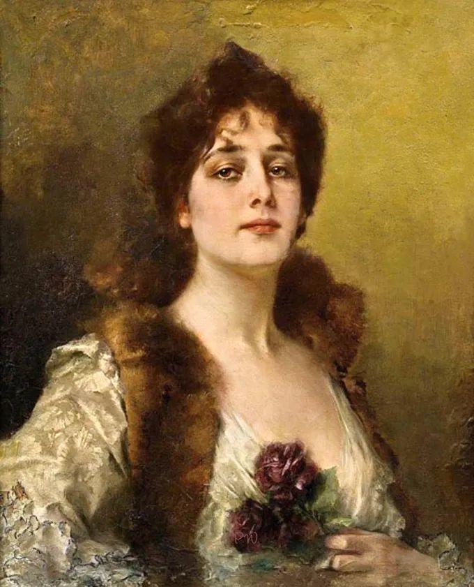 德国画家康拉德油画里的优雅女子,美!插图25
