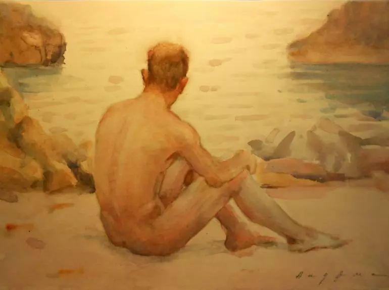 沉迷于人物的画家Henry Scott Tuke插图1