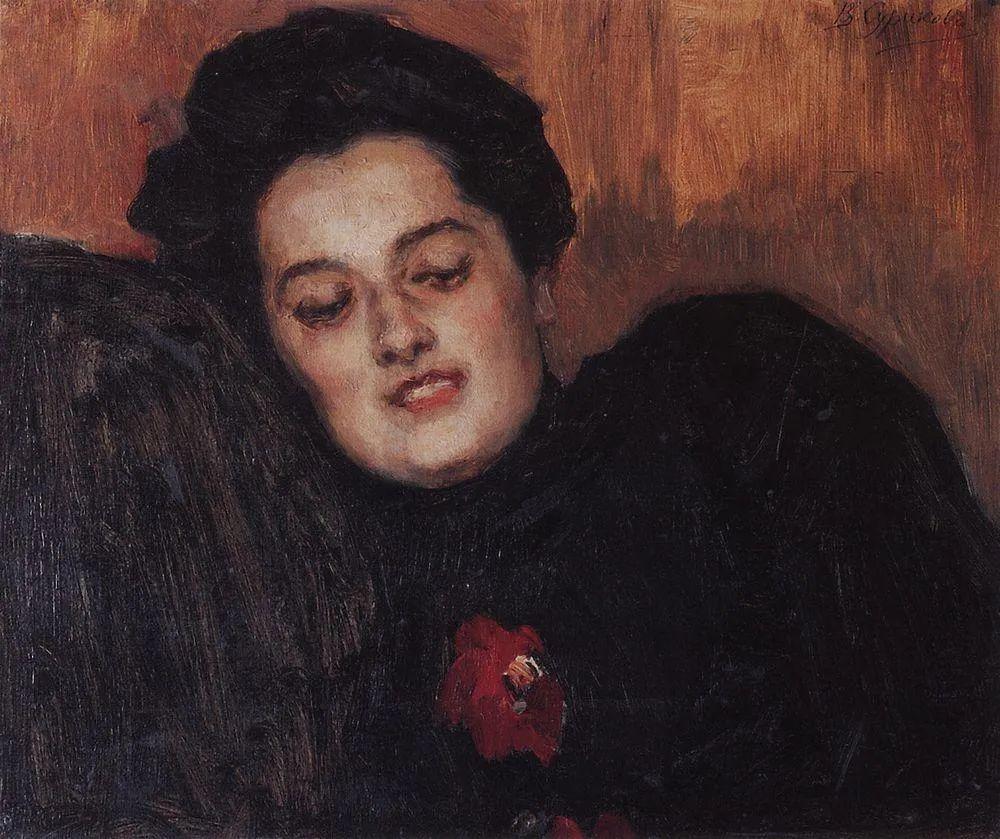 俄罗斯画坛先驱人物,瓦西里·苏里科夫人物作品选粹插图66