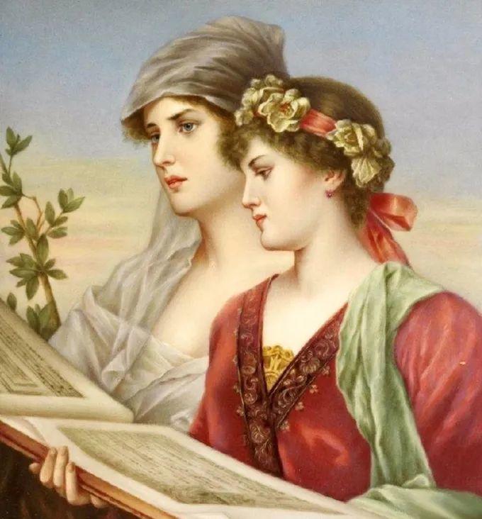 德国画家康拉德油画里的优雅女子,美!插图53