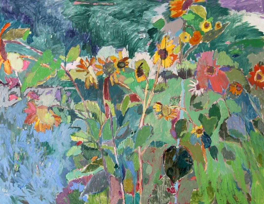 她的油画作品色彩丰富,充满爱意插图89
