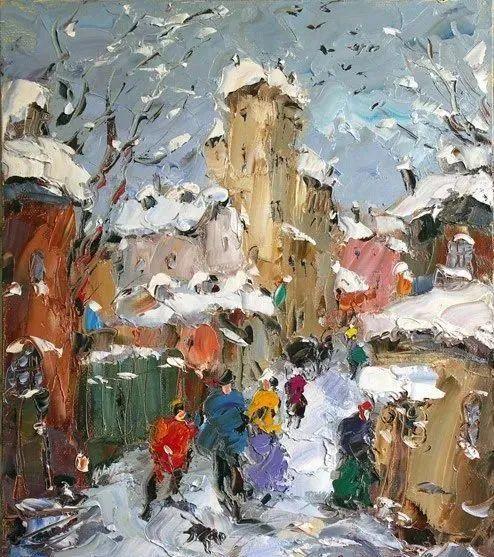 俄罗斯画家 弗拉基米尔·苏科瓦蒂 刮刀油画作品欣赏插图21