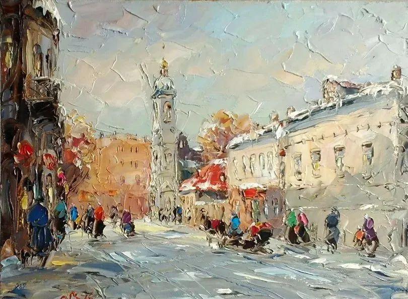 俄罗斯画家 弗拉基米尔·苏科瓦蒂 刮刀油画作品欣赏插图67
