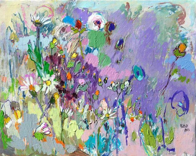 她的油画作品色彩丰富,充满爱意插图47