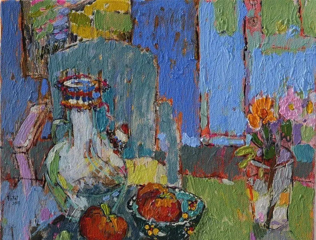 她的油画作品色彩丰富,充满爱意插图71