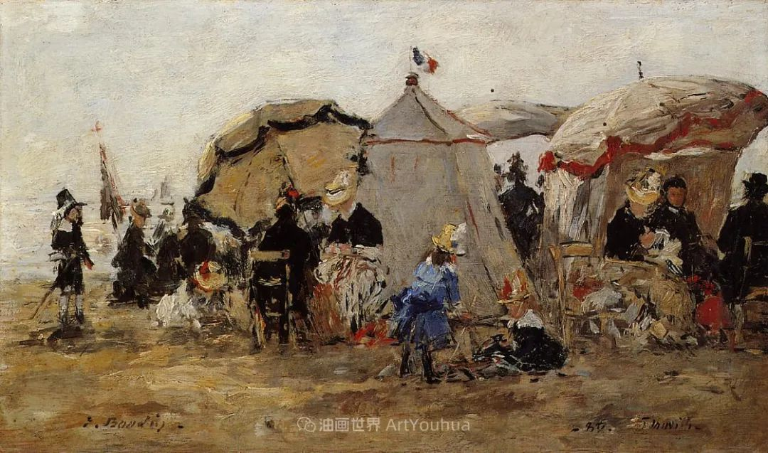 法国最早印象派画家欧仁·布丹,曾教莫奈写生!插图104