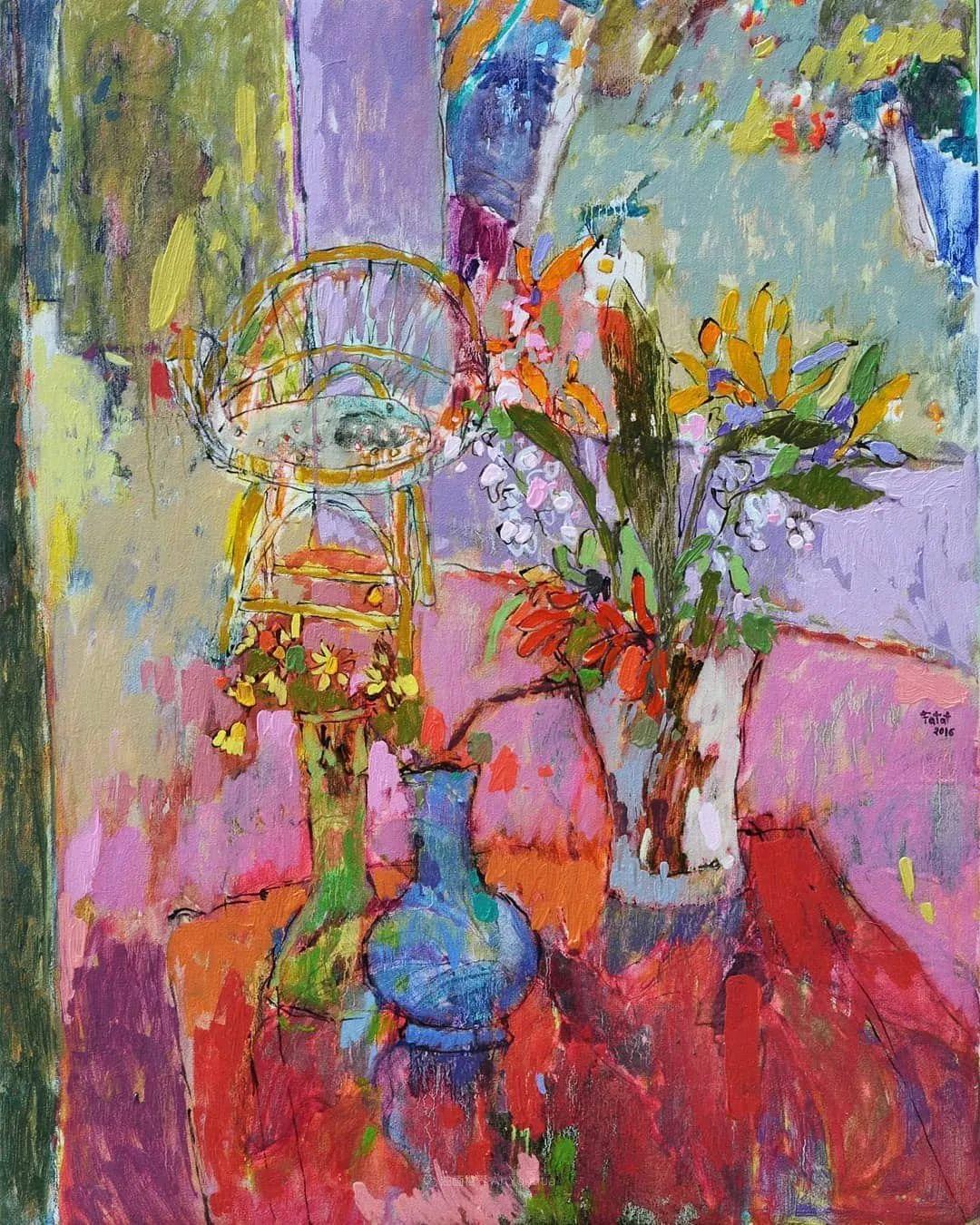 她的油画作品色彩丰富,充满爱意插图67
