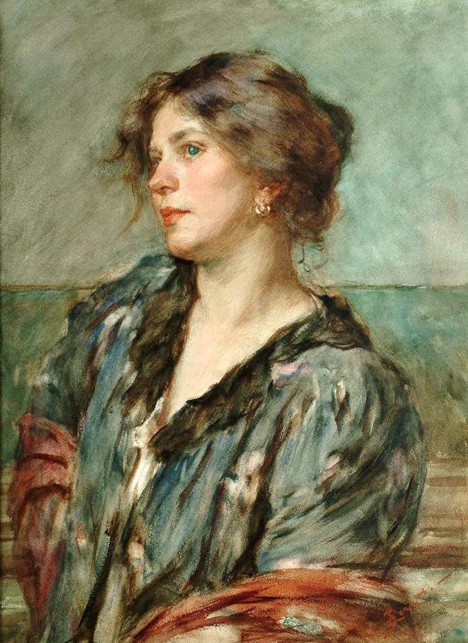 德国画家康拉德油画里的优雅女子,美!插图27