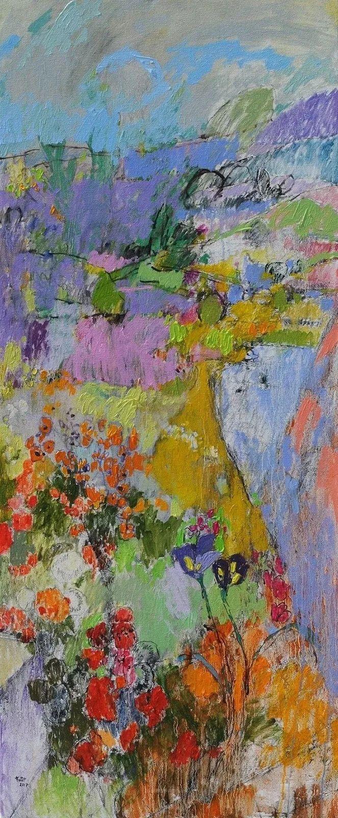 她的油画作品色彩丰富,充满爱意插图111