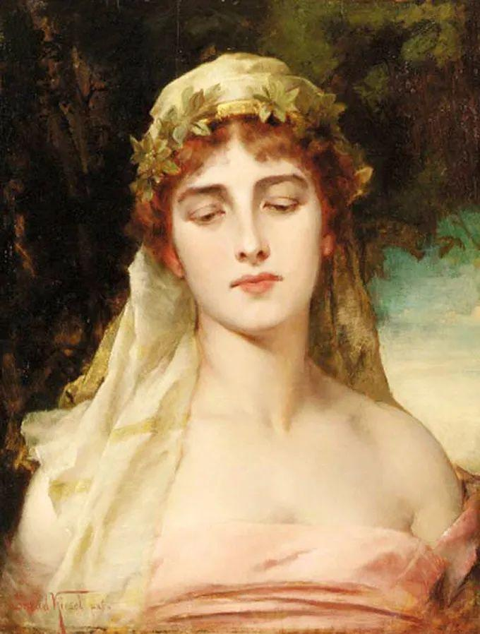 德国画家康拉德油画里的优雅女子,美!插图79