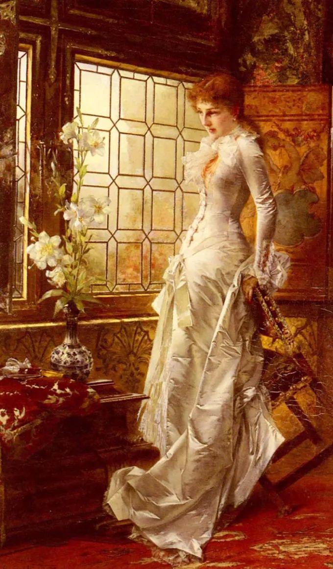 德国画家康拉德油画里的优雅女子,美!插图13