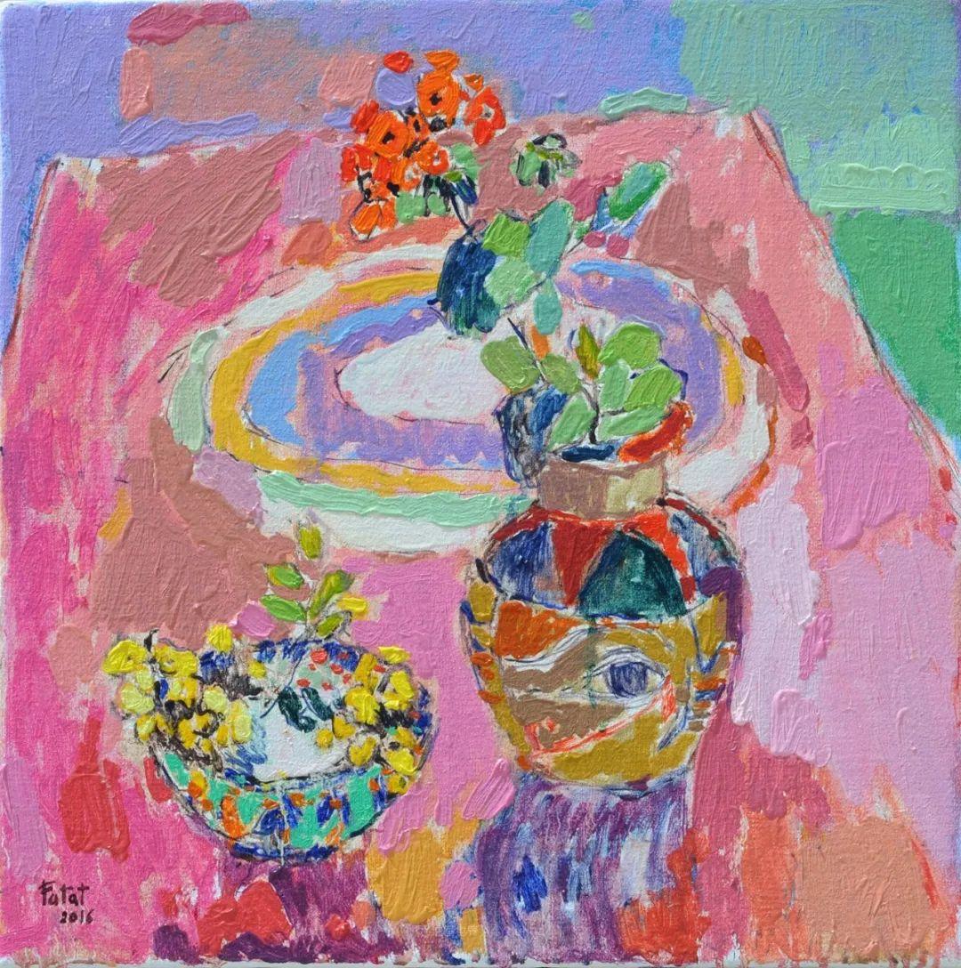 她的油画作品色彩丰富,充满爱意插图7