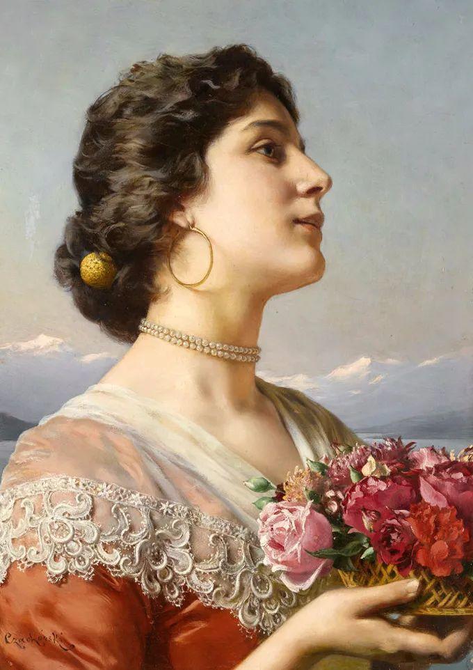 德国画家康拉德油画里的优雅女子,美!插图5