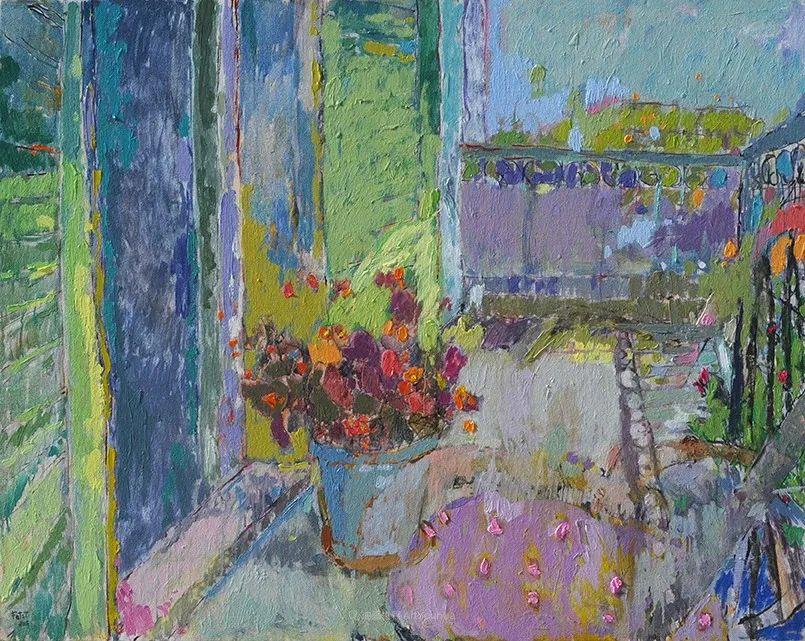 她的油画作品色彩丰富,充满爱意插图113