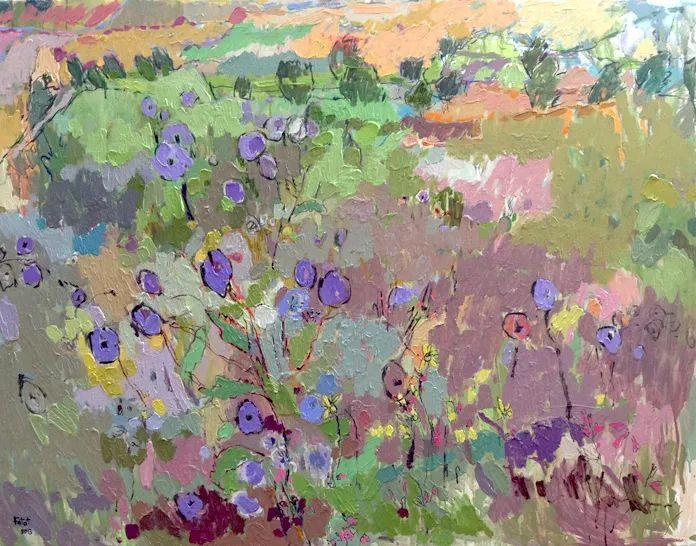 她的油画作品色彩丰富,充满爱意插图117