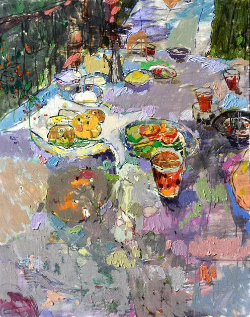 她的油画作品色彩丰富,充满爱意插图51