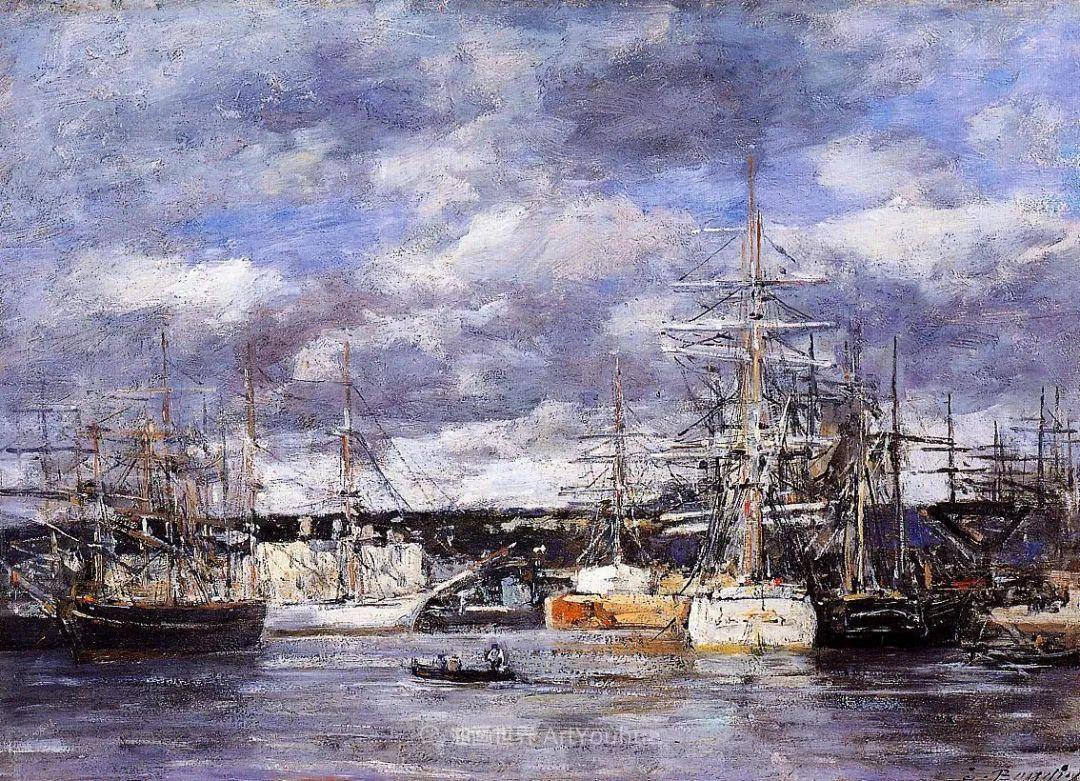 法国最早印象派画家欧仁·布丹,曾教莫奈写生!插图143