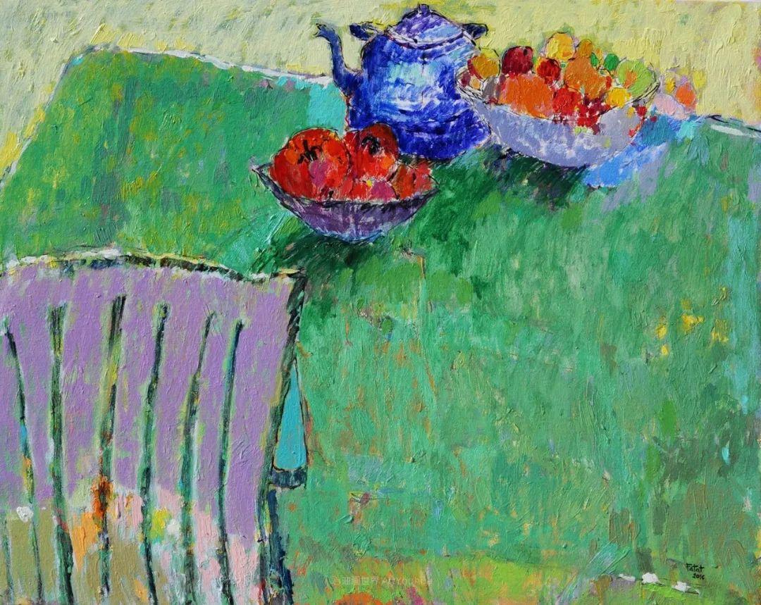 她的油画作品色彩丰富,充满爱意插图41