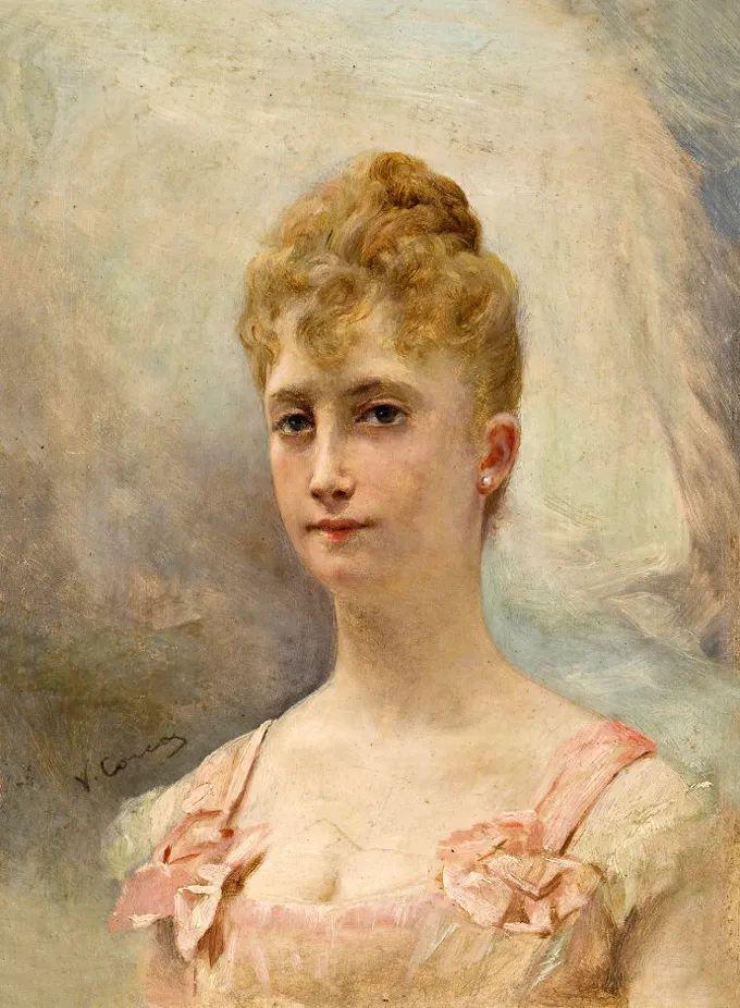 德国画家康拉德油画里的优雅女子,美!插图23