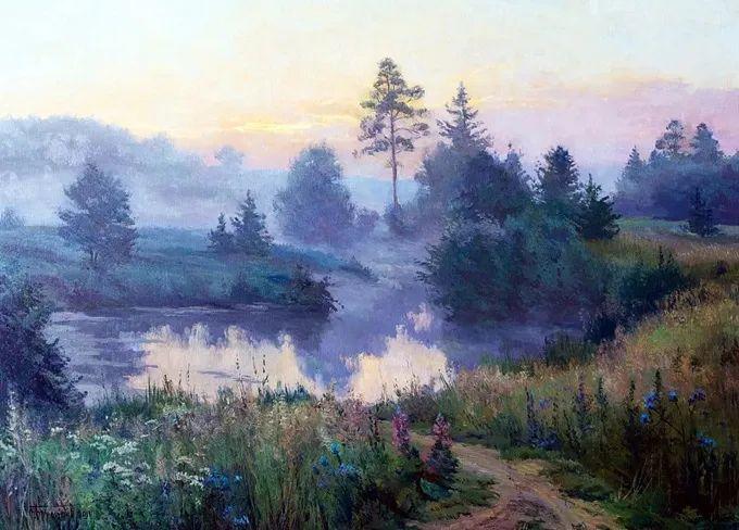 """岁月静好,俄罗斯"""" 小希施金 """" 的自然风景油画,美极了!插图9"""