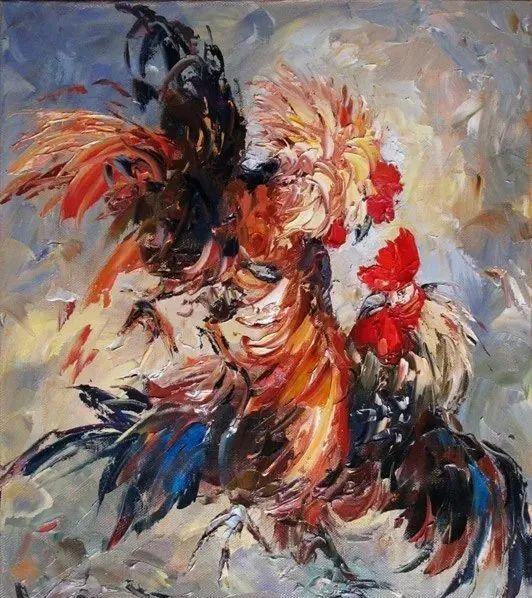 俄罗斯画家 弗拉基米尔·苏科瓦蒂 刮刀油画作品欣赏插图79