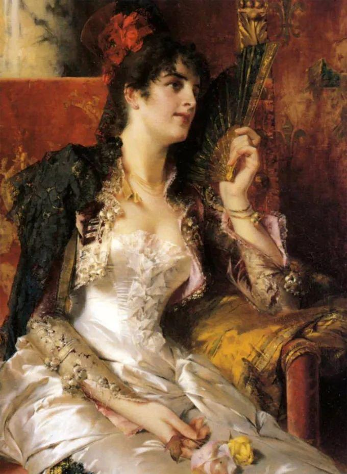 德国画家康拉德油画里的优雅女子,美!插图49