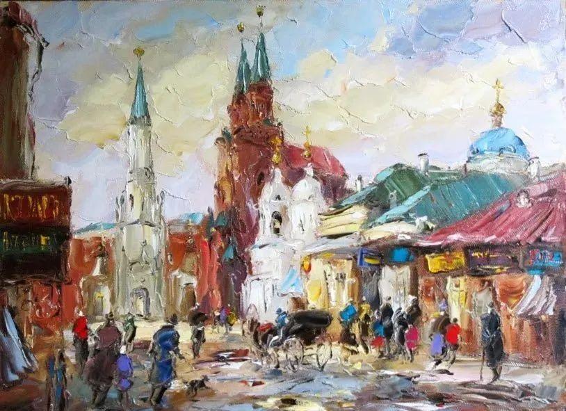 俄罗斯画家 弗拉基米尔·苏科瓦蒂 刮刀油画作品欣赏插图53