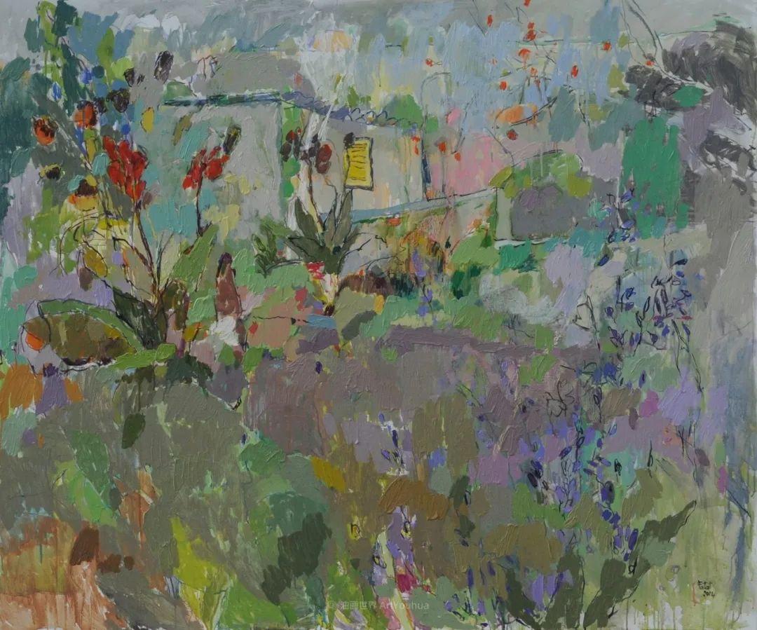她的油画作品色彩丰富,充满爱意插图99