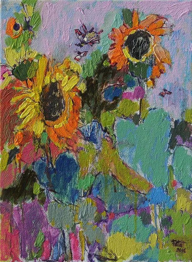 她的油画作品色彩丰富,充满爱意插图103