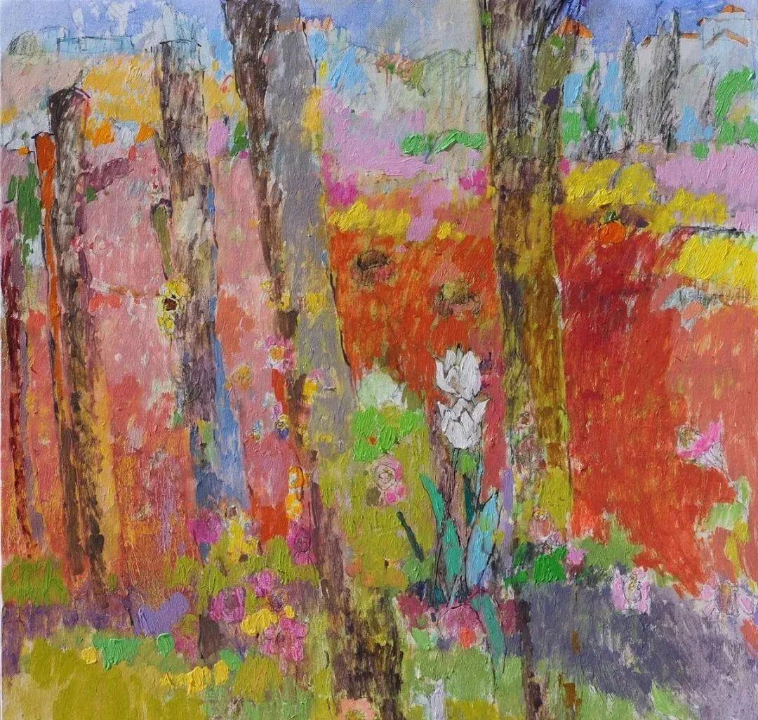 她的油画作品色彩丰富,充满爱意插图83