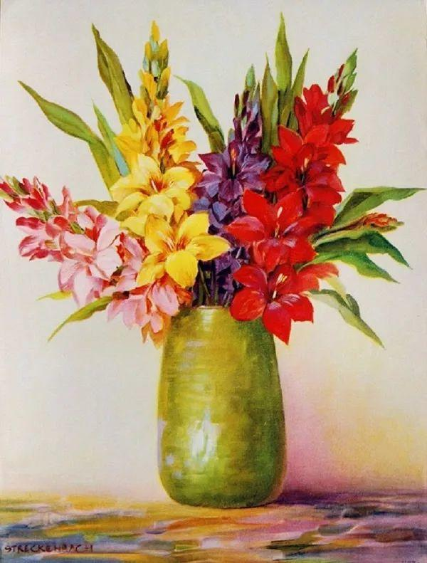学医的他,37岁才开始自学绘画,笔下五颜六色的花束,太美了!插图69
