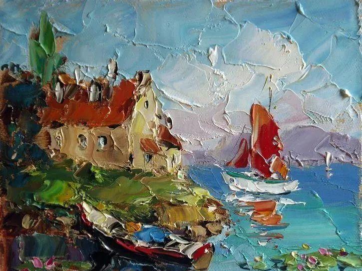 俄罗斯画家 弗拉基米尔·苏科瓦蒂 刮刀油画作品欣赏插图49