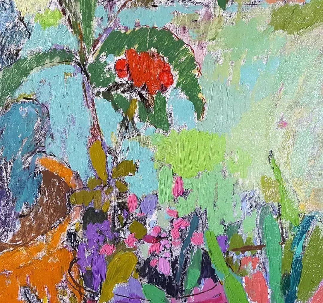 她的油画作品色彩丰富,充满爱意插图33