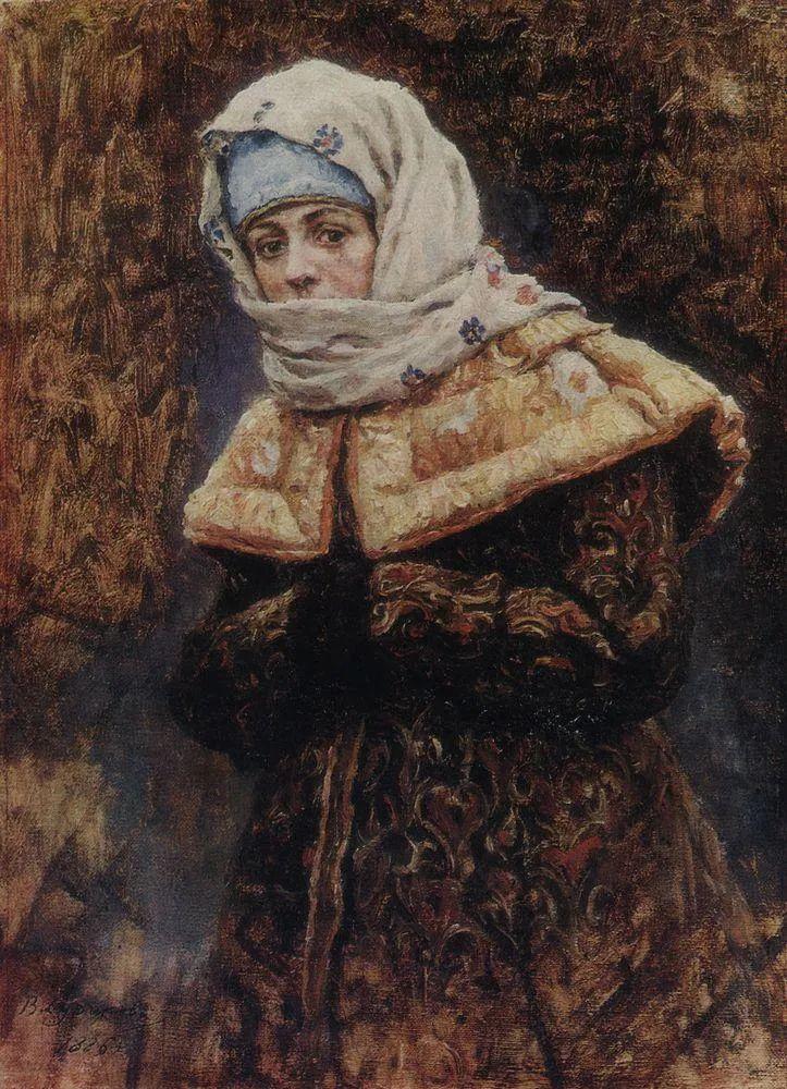 俄罗斯画坛先驱人物,瓦西里·苏里科夫人物作品选粹插图6