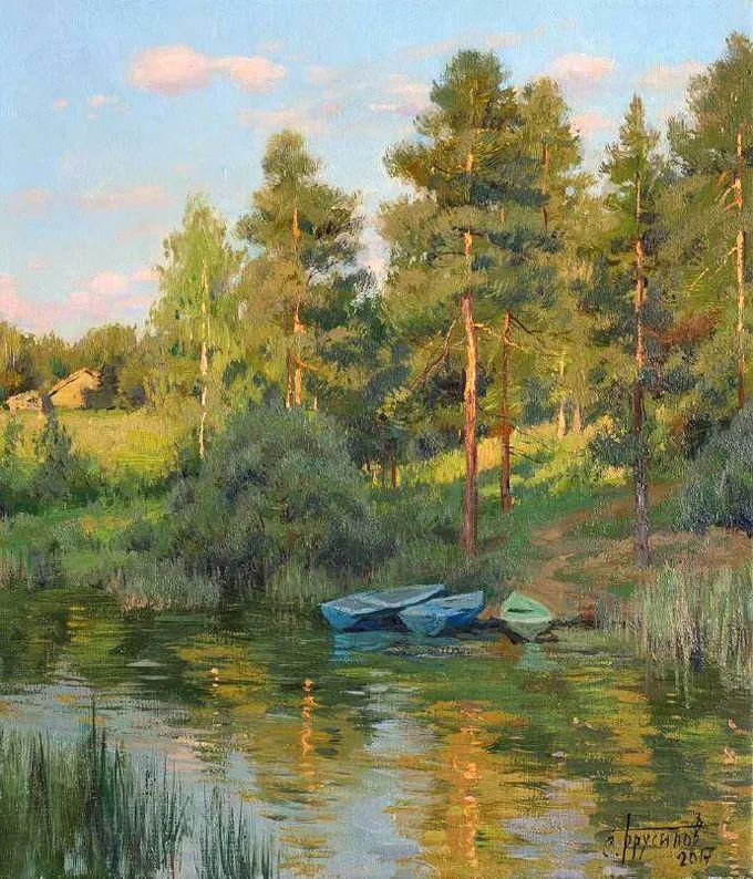 """岁月静好,俄罗斯"""" 小希施金 """" 的自然风景油画,美极了!插图85"""