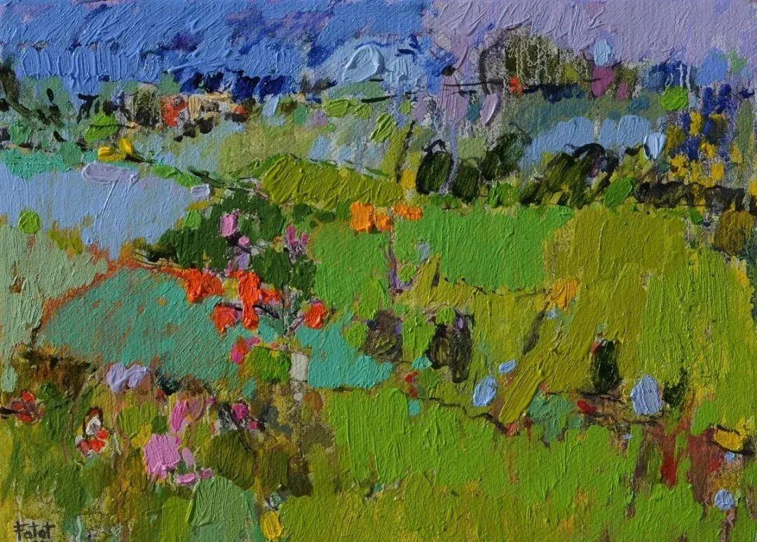 她的油画作品色彩丰富,充满爱意插图77