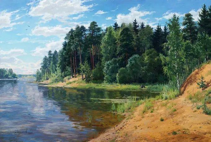 """岁月静好,俄罗斯"""" 小希施金 """" 的自然风景油画,美极了!插图23"""