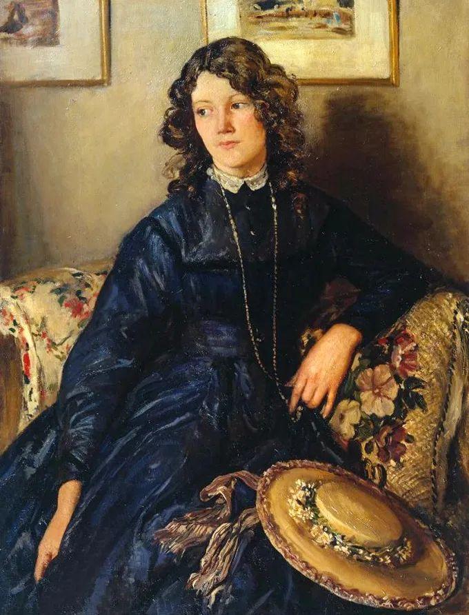 德国画家康拉德油画里的优雅女子,美!插图31