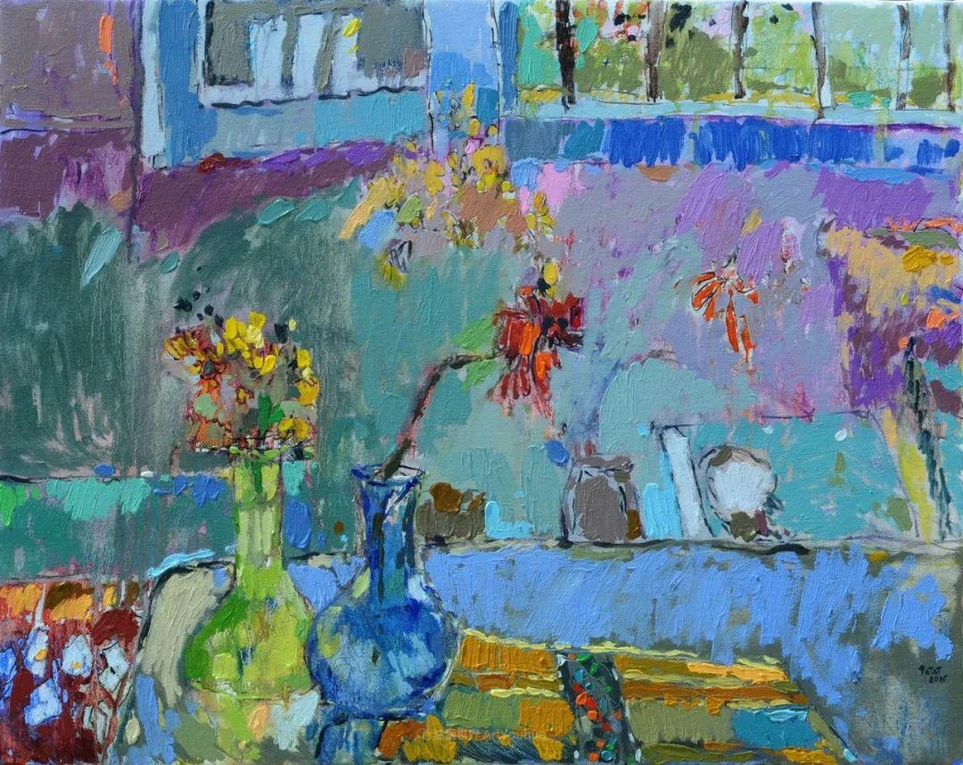她的油画作品色彩丰富,充满爱意插图73