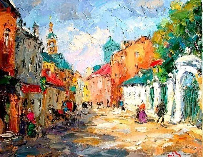 俄罗斯画家 弗拉基米尔·苏科瓦蒂 刮刀油画作品欣赏插图15