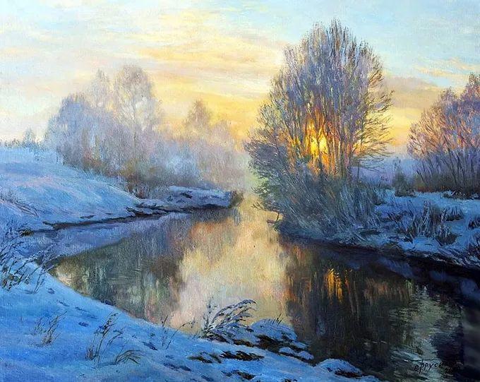 """岁月静好,俄罗斯"""" 小希施金 """" 的自然风景油画,美极了!插图17"""