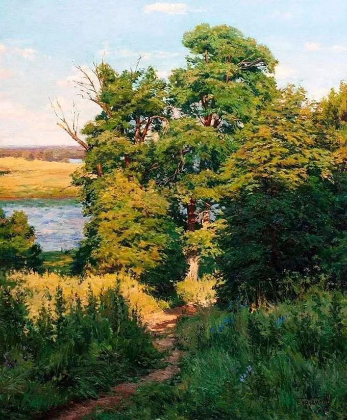 """岁月静好,俄罗斯"""" 小希施金 """" 的自然风景油画,美极了!插图13"""