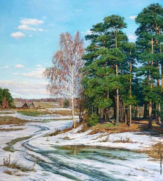 """岁月静好,俄罗斯"""" 小希施金 """" 的自然风景油画,美极了!插图103"""