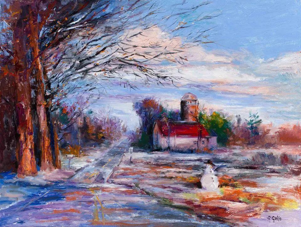 风景油画丨美国艺术家乔治·加洛的风景油画作品插图25