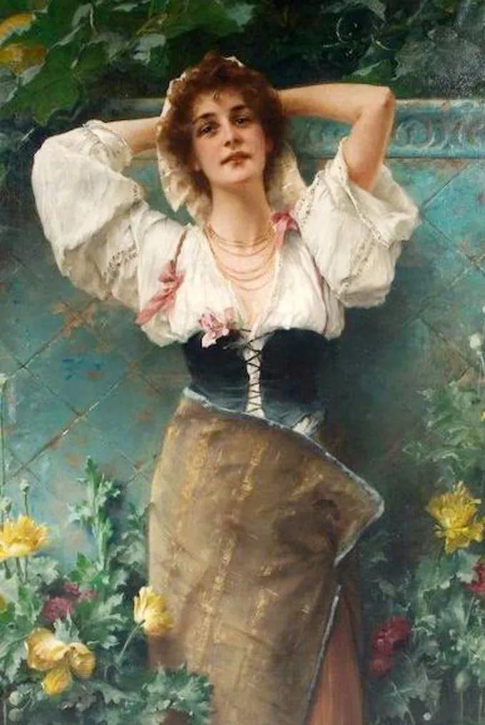 德国画家康拉德油画里的优雅女子,美!插图67